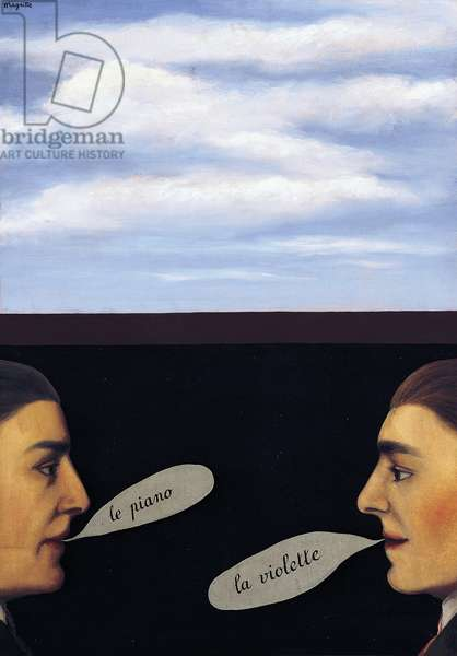 The use of speech, 1928, by Rene Magritte (1898-1967). Belgium, 20th century.