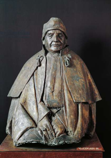 Bust of Pope John XXII (bronze)