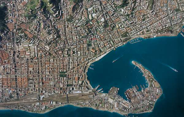Italy, Sicily Region, Messina, aerial view (photo)