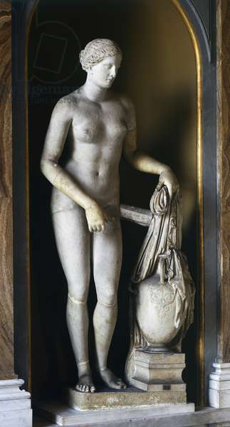 Colonna Venus, Roman copy in marble of Aphrodite of Cnidus by Praxiteles, lost, Roman Civilization