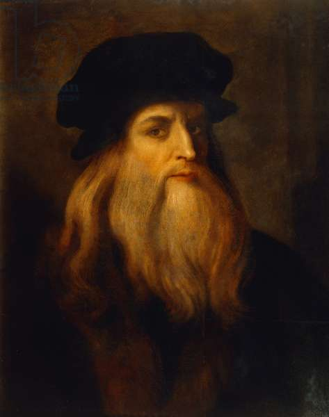 Presumed self-portrait by Leonardo da Vinci (1452-1519), an Unknown Artist