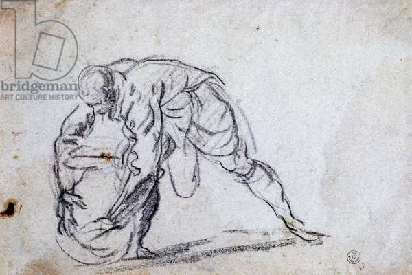 Study for bent male figure