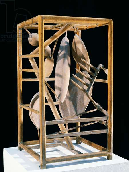 The cage, 1930-1931, by Alberto Giacometti (1901-1966), wood carving. Italy, 20th century.