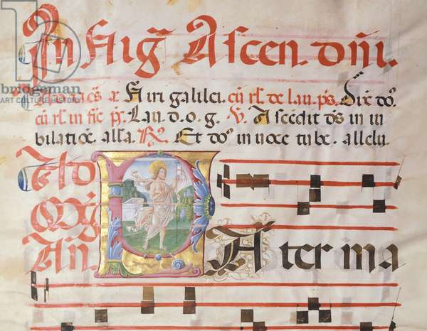Illuminated page of a medieval psaltery, by Girolamo of Cremona.