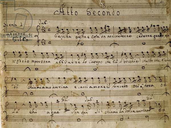 Autograph music score of the second Act of the opera The Chinese Idol, 1767, by Giovanni Paisiello (1740-1816)