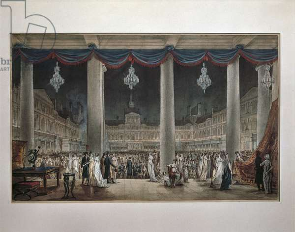 France, Paris, Industrial Exposition in large courtyard in Louvre, 1801