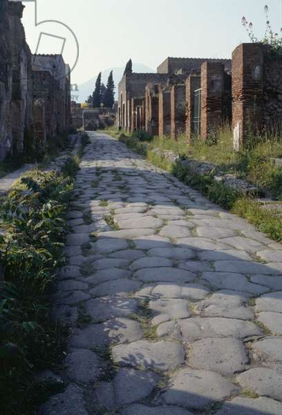 Via Consolare, ancient Roman city of Pompeii (UNESCO World Heritage Site, 1997), Campania, Italy