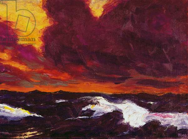 The Sea B, 1930, by Emil Nolde (1867-1953), oil on canvas, 90x117 cm. Germany, 20th century.