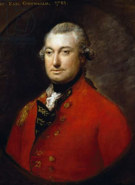 Portrait of Charles Cornwallis (London, 1738-Ghazipur, 1805), British general and colonial administrator, Painting by Thomas Gainsborough
