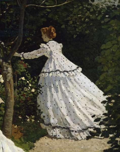 Women in the Garden, by Claude Monet, 1866-1867, detail, oil on canvas, 1840-1926, 255x205 cm