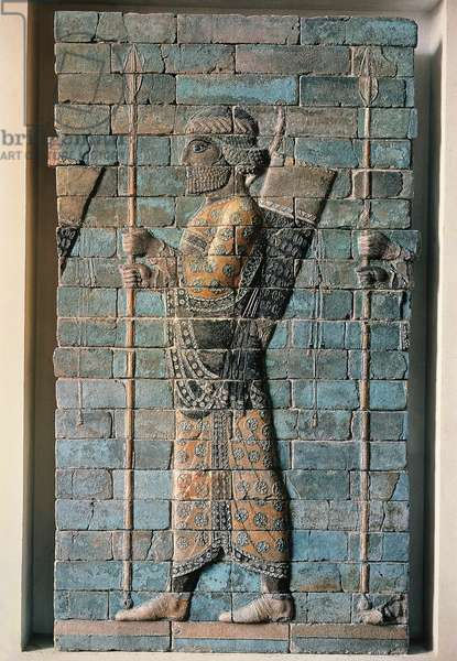 Frieze of Archers of polychrome glazed brick, from Palace of Darius I at Susa, Iran, detail