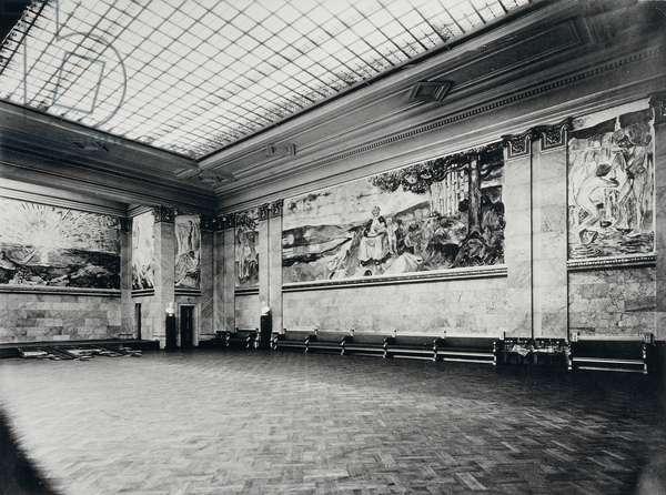 The University Aula decorated by Edvard Munch (1863-1944), 1914-1916, University of Oslo, Norway