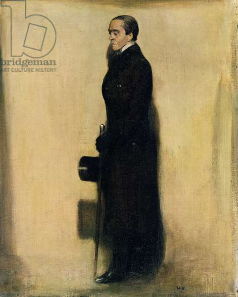Portrait of Henry Maximilian Beerbohm, 1905 (oil on canvas)