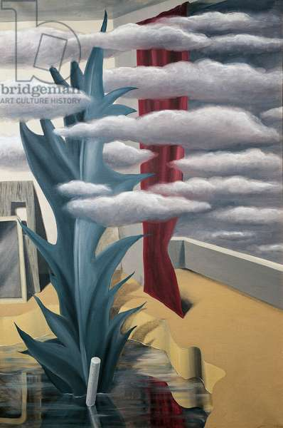After the Water, the Clouds, 1926, by Rene Magritte (1898-1967), oil on canvas, 120x80 cm. Belgium, 20th century.