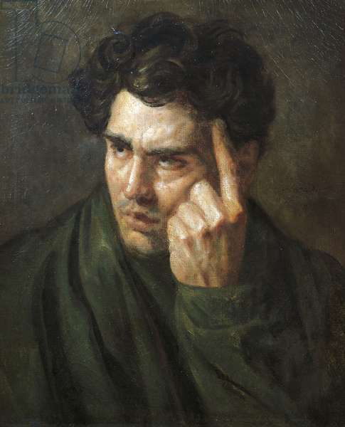 Portrait of Lord Byron, by Jean-Louis Theodore Gericault (1791-1824)