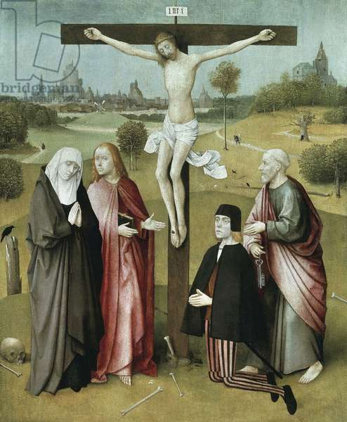 Christ crucified with donors and saints, 1480-1485,