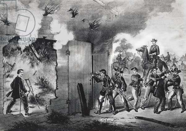 Killing of John Wilkes Booth in Port Royal, April 26, 1865, USA, 19th century