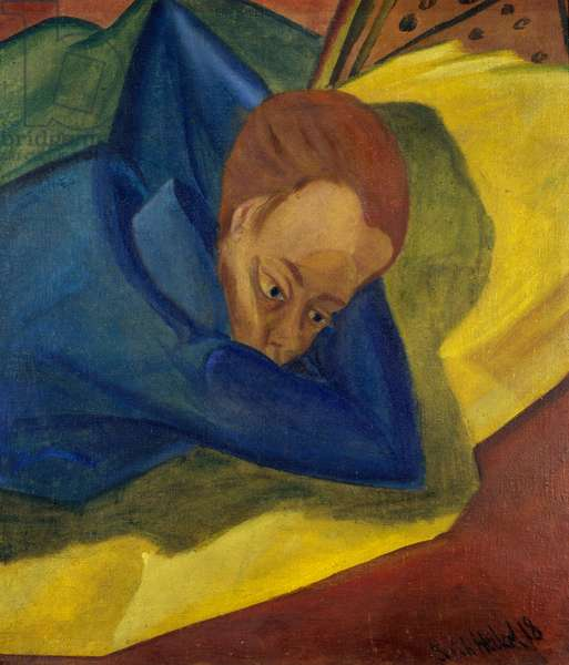 Woman lying, 1918, by Erich Heckel (1883-1970). Germany, 20th century.
