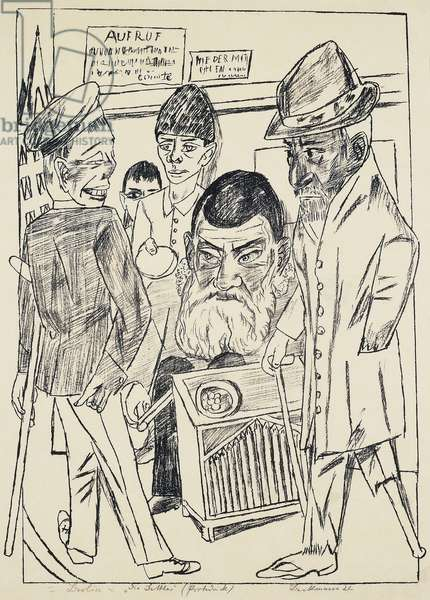 The beggars, by Max Beckmann (1884-1950), lithograph. Germany, 20th century.