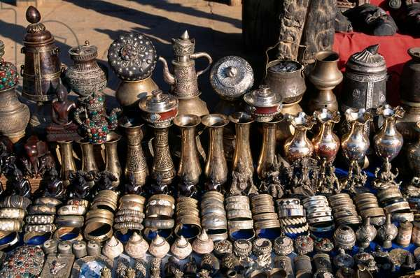 Display of objects and bracelets, Durbar Square, Patan, Nepal