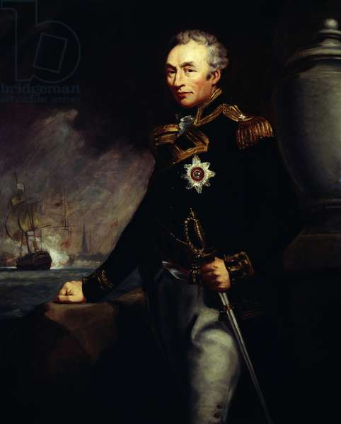 Portrait of Sir Thomas Graves (1747-1814), British admiral of Royal Navy, Oil on canvas by James Northcote