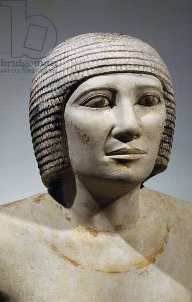 The chief of butchers, Pehernefer, statue from Saqqara, Detail, Egyptian civilization, Old Kingdom, Dynasty IV