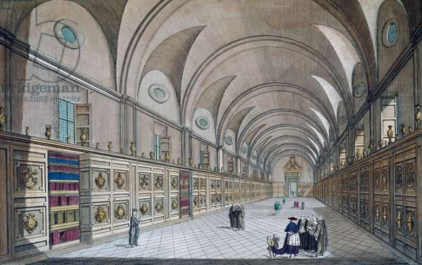 Painting exhibition in Louvre, 1785, engraving, France, 18th century