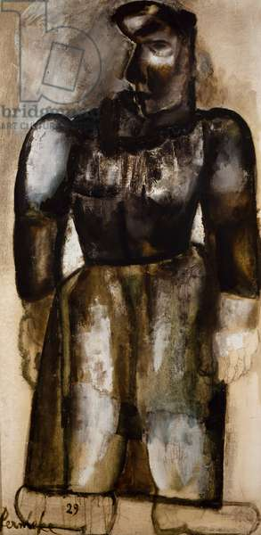 Peasant woman, 1929, by Constant Permeke (1886-1952). Belgium, 20th century.