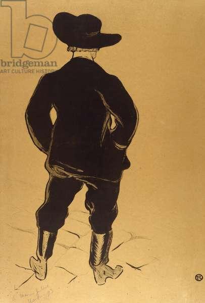 Aristide Bruant in Mirliton, 1893, by Henri de Toulouse-Lautrec (1864-1901)