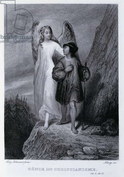 Genius of Christianity (Genie du Christianisme), 1802, illustration for work by Francois-Rene de Chateaubriand (1768-1848), engraving