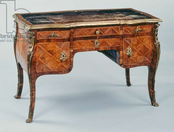 Louis XV style writing table (bureau plat), France, 18th century