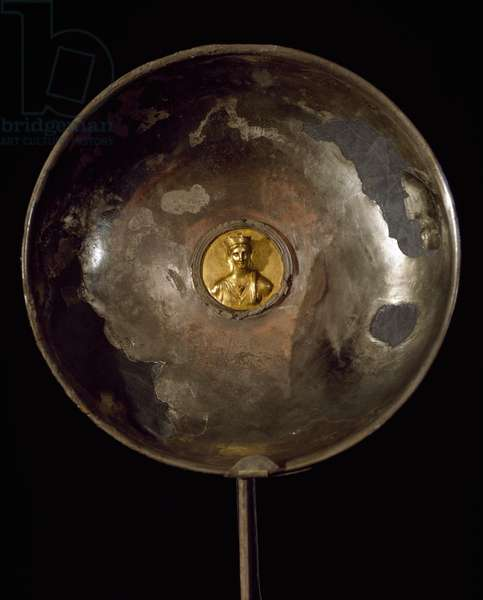 Silver and gold plate found in House of Menander in Pompeii, Campania, Italy Roman Civilization, 1st century