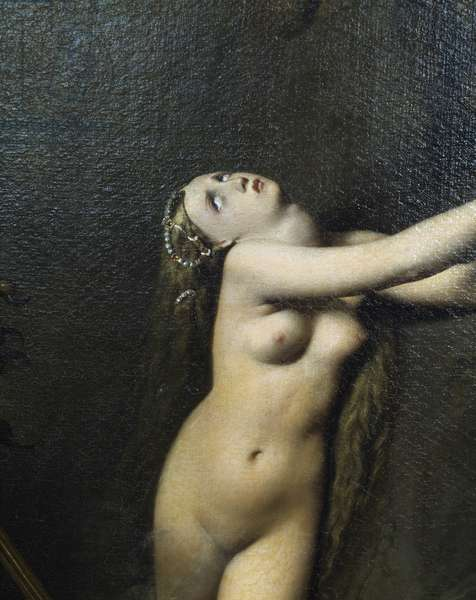 Figure Angelica, detail by Roger free Angelica, 1819