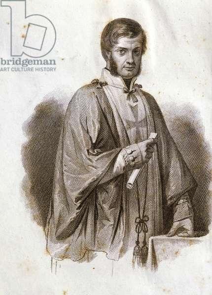 Portrait of Leopold II, Grand Duke of Tuscany (Florence, 1797-Rome, 1870), engraving
