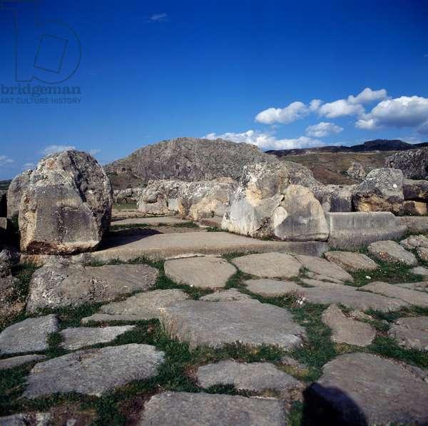 Gate in lower city of Hattusa (Bogazkoy), capital of Hittite empire (Unesco World Heritage List, 1986), Bogazkale, Turkey, Hittite civilization, 2nd millennium BC