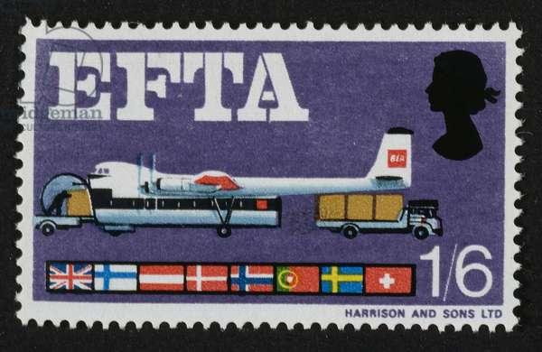 British stamp commemorating the EFTA, 1967