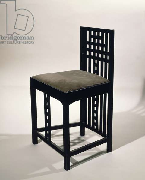 Chair, 1904, by Charles Rennie Mackintosh (1868-1928), sycamore, United Kingdom, 19th-20th century