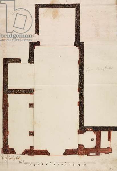 Design for expansion of parish church of Maresso, parish of Missaglia, March 17, 1761, Cardinal Giuseppe Pozzobonelli, plan n. 29_335, Italy, 18th century
