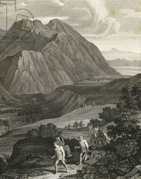 Quindio pass in Andes, engraving from Views of Andes and monuments of indigenous peoples of America by Alexander von Humboldt (1769-1859), Paris, 1810, Detail, South America, 19th century