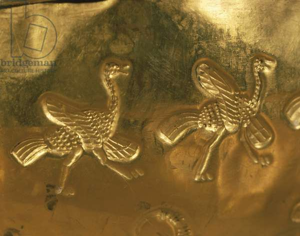 Detail of gold cup