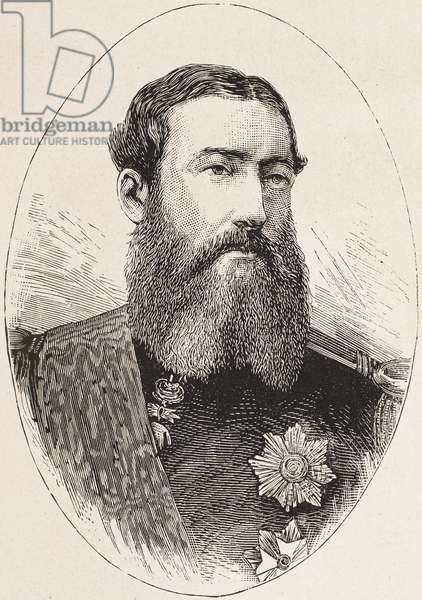 Portrait of Leopold II (1835-1909), King of Belgium, engraving from L'Illustrazione Italiana, No 35, August 29, 1880