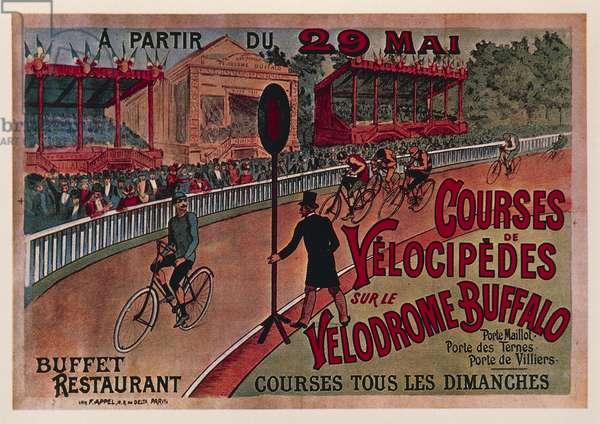 Velocipede race at  Buffalo Velodrome, poster