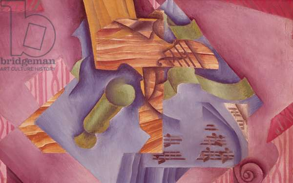 Still life with violin and glass by Juan Gris (1887-1927), oil on canvas, 46x73 cm