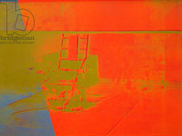Electric chair, 1967, by Andy Warhol (1930-1987), silkscreen ink and acrylic on canvas. United States of America, 20th century.
