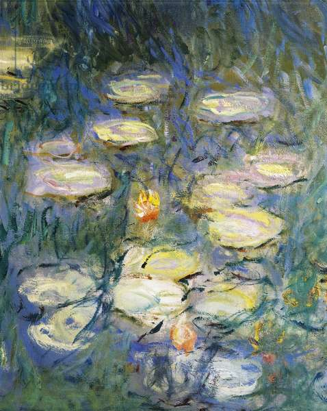 Water Lilies, by Claude Monet, detail, 1840-1926,