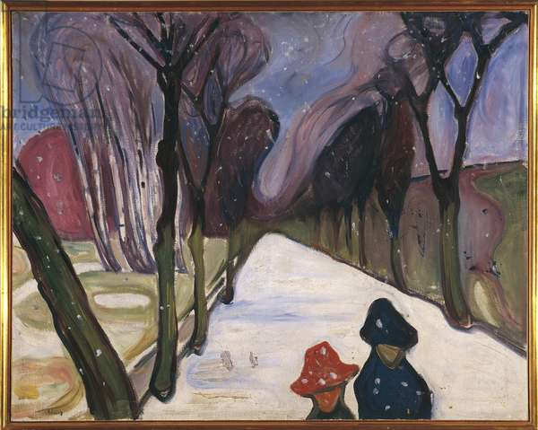 New Snow in the Avenue, 1906 (oil on canvas)