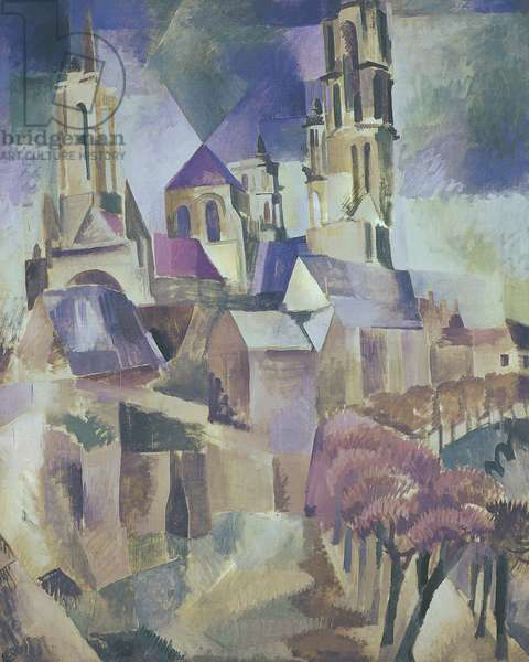 The Towers of Laon, 1912 (oil on canvas)