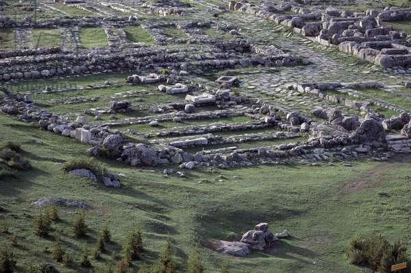 Ruins of Hattusa (Bogazkoy), capital of Hittite empire (UNESCO World Heritage Site, 1986), Turkey, Hittite civilization, 2nd millennium BC
