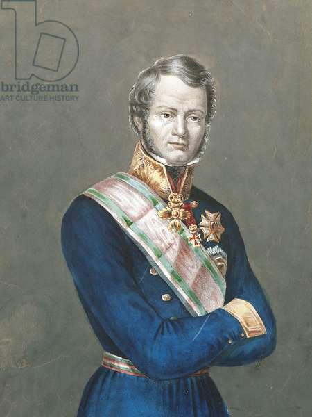 Portrait of Leopold II (Florence, 1797-Rome, 1870), Grand Duke of Tuscany, son of Grand Duke Ferdinand III and Maria Luisa of Bourbon-Naples.
