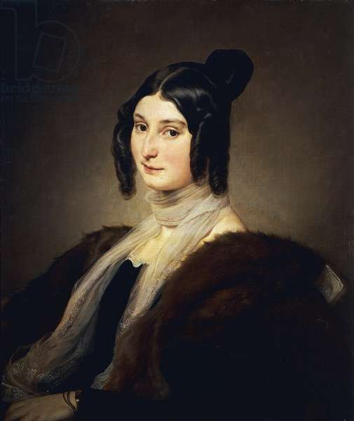 Portrait of Clara Maffei, by Francesco Hayez, 1845, oil on canvas
